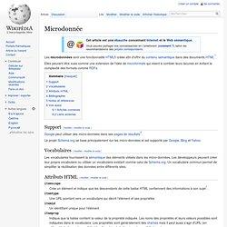 Microdonnée