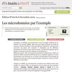 Les microdonnées par l'exemple