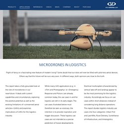 microdrones - microdrones in logistics – internet of things, unmanned cargo, drone delivery