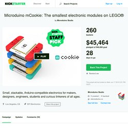 Microduino mCookie: The smallest electronic modules on LEGO® by Microduino Studio