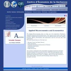 Centre d'Économie de la Sorbonne: Microéconomie appliquée et économétrie
