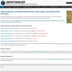 Semitracks, Inc. - Microelectronics and Semiconductor Training