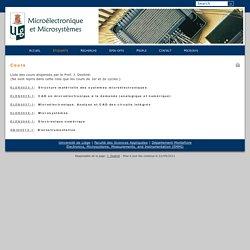 Microélectronique et microsystèmes - Cours