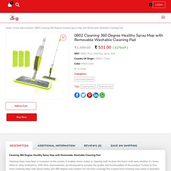 Microfiber 360 Degree Cleaning Healthy Spray Mop Mart24Online