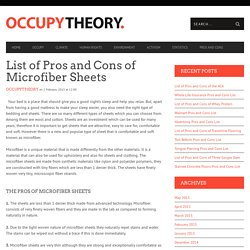 List of Pros and Cons of Microfiber Sheets
