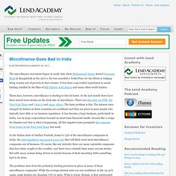 Microfinance Goes Bad in India