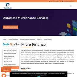 Microfinance Software Solutions, Microfinance Management Software