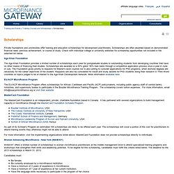 Microfinance Gateway>Scholarships