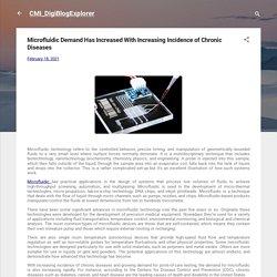 Microfluidic Demand Has Increased With Increasing Incidence of Chronic Diseases