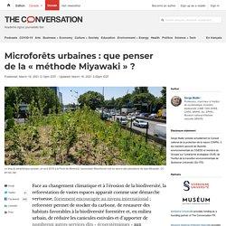 Microforêts urbaines: que penser dela«méthode Miyawaki»?