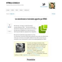 Les microformats et microdata apportés par HTML5