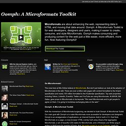 Oomph: A Microformats Toolkit - Lab - MIX Online