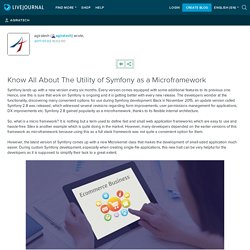 Know All About The Utility of Symfony as a Microframework