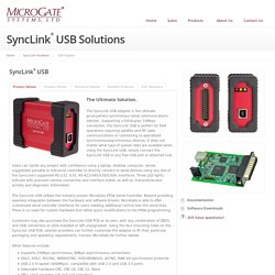 MicroGate Systems: SyncLink USB Synchronous Serial Adapter