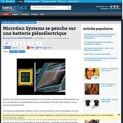MicroGen Systems se penche sur une batterie piézoélectrique