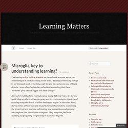 Microglia, key to understanding learning? « Learning Matters
