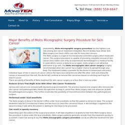 Major Benefits of Mohs Micrographic Surgery Procedure for Skin Cancer