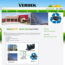 Energy Storage and EV Charging Microgrid - Verdek