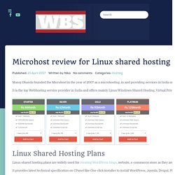 Microhost Review for Linux shared hosting plans 2017