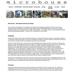 microhouse - affordable design small cottage plans