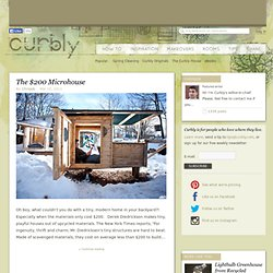 The $200 Microhouse » Curbly | DIY Design Community « Keywords: DIY, tiny, house, upcycle