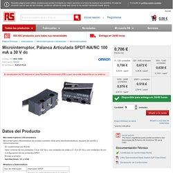 Microinterruptor, Palanca Articulada SPDT-NA/NC 100 mA a 30 V dc