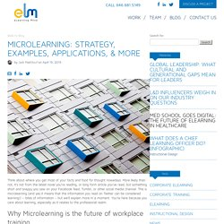 Microlearning: Strategy, Examples & Applications