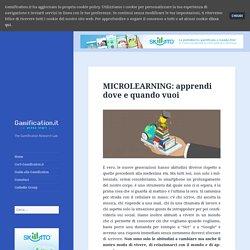 MICROLEARNING: apprendi dove e quando vuoi