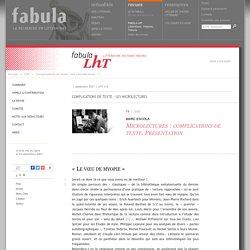 Microlectures: complications de texte. Présentation (LhT Fabula)