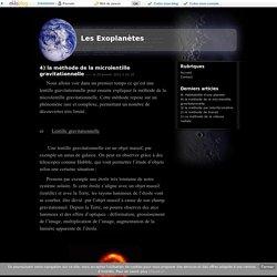 4) la méthode de la microlentille gravitationnelle - Les Exoplanètes