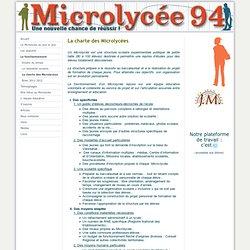 La charte des Microlycées - Microlycee 94 - Etablissement scolaire pour élèves qui ont décroché