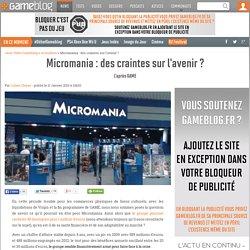 Micromania : des craintes sur l'avenir ?