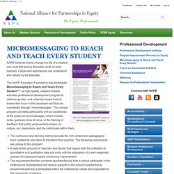 Micromessaging to Reach and Teach Every Student