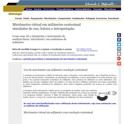 Micrômetro virtual em milímetro centesimal - simulador