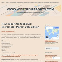 New Report On Global AC Micromotor Market 2017 Edition – www.wiseguyreports.com
