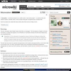 Micronation - MicroWiki