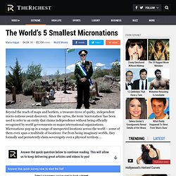 The World's 5 Smallest Micronations - TheRichest
