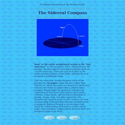 Micronesian Navigation: Sidereal Compass