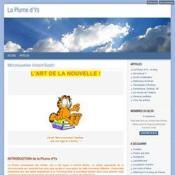 Micronouvelles Vincent Bastin - La Plume d'Ys