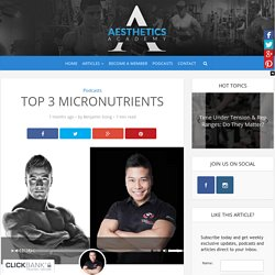Top 3 Micronutrients – Aesthetics Academy