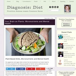 Your Brain on Plants: Micronutrients and Mental Health - Diagnosis:Diet