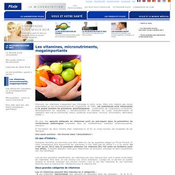 Les vitamines, micronutriments, megaimportants