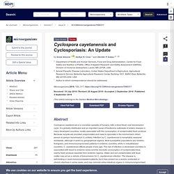 MICROORGANIMS 04/09/19 Cyclospora cayetanensis and Cyclosporiasis: An Update