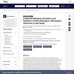 MICROORGANISMS 06/01/21 Fungicide Resistance Evolution and Detection in Plant Pathogens: Plasmopara viticola as a Case Study