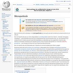 Microparticule