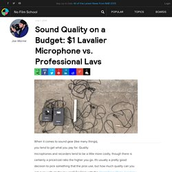 Sound Quality on a Budget: $1 Lavalier Microphone vs. Professional Lavs