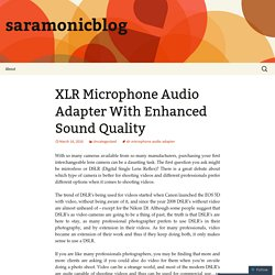 XLR Microphone Audio Adapter With Enhanced Sound Quality