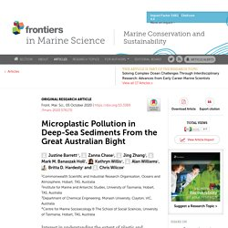 FRONT. MAR. SCI. 05/10/20 Microplastic Pollution in Deep-Sea Sediments From the Great Australian Bight