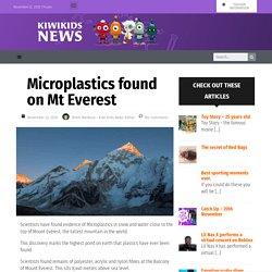 Microplastics found on Mt Everest – Kiwi Kids News