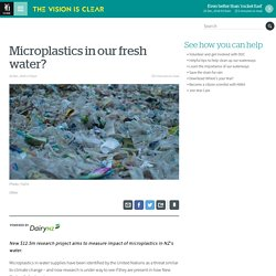 Microplastics in our fresh water?